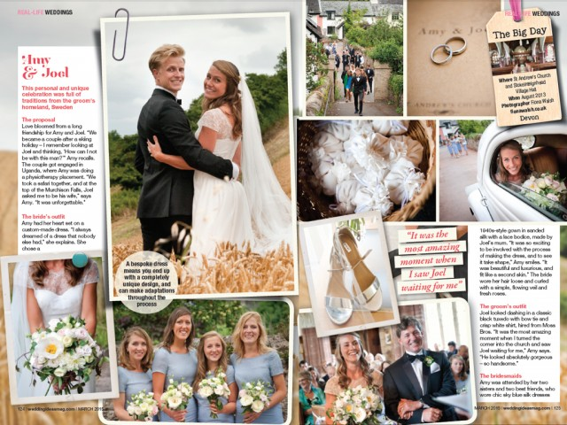Featured in Wedding Ideas Magazine!